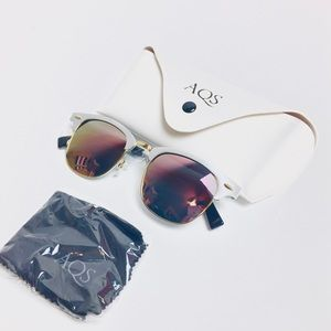 AQS Aquaswiss MILO 49mm clubmaster sunglasses NEW